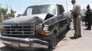 Choca contra poste, conductor conducía en estado de ebriedad