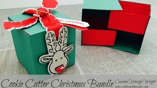 Double Tray Surprise Gift Box with Cookie Cutter Christmas