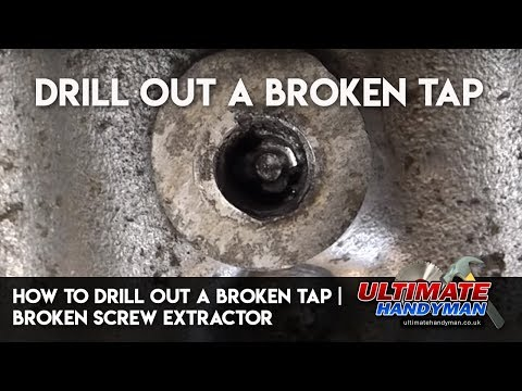How to drill out a broken tap | drill out a broken screw extractor