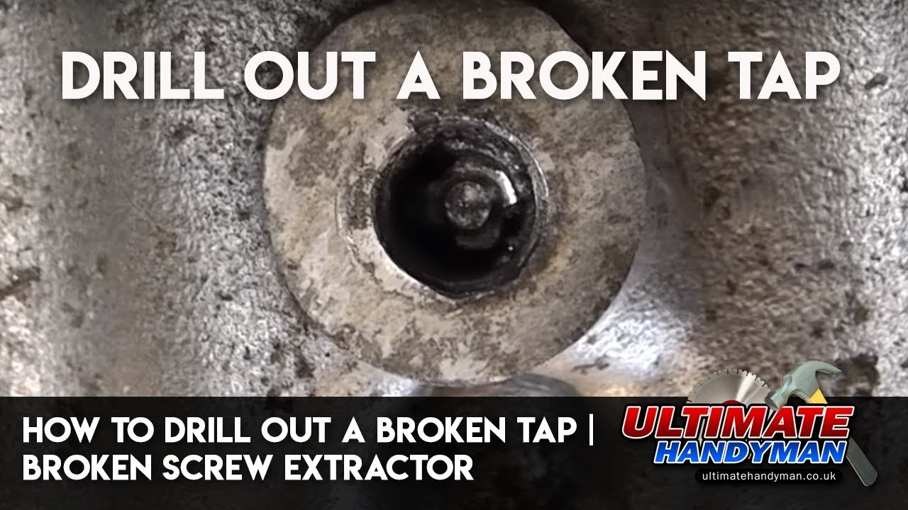 Remove Broken Bolt >> How to drill out a broken tap | drill out a broken screw extractor - YouTube