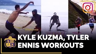 Lakers Summer Workouts With Kyle Kuzma and Tyler Ennis