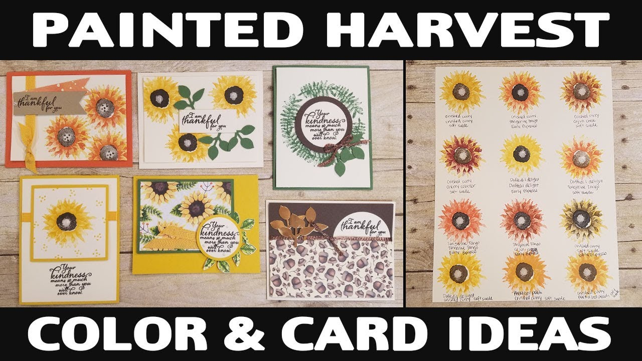 Stamping Jill Painted Harvest Color Card Ideas Youtube