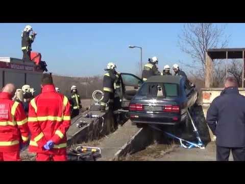 Szlovén-magyar tűzoltó műszaki együttműködési gyakorlat Szombathelyen