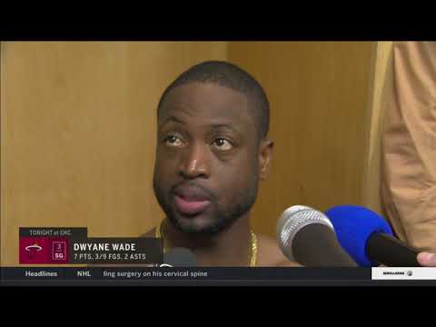 Dwyane Wade -- Miami Heat at Oklahoma City Thunder 03/23/2018