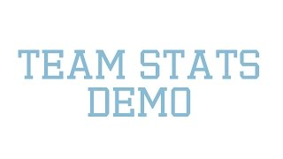 Team Stats Demo