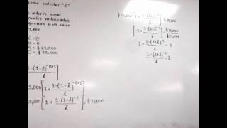 como calcular la tasa de interes con formulas de anualidades