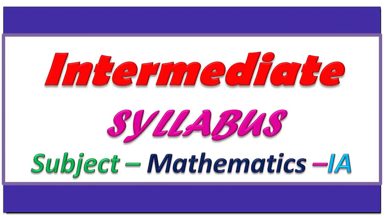 intermediate 1st year maths 1a study material