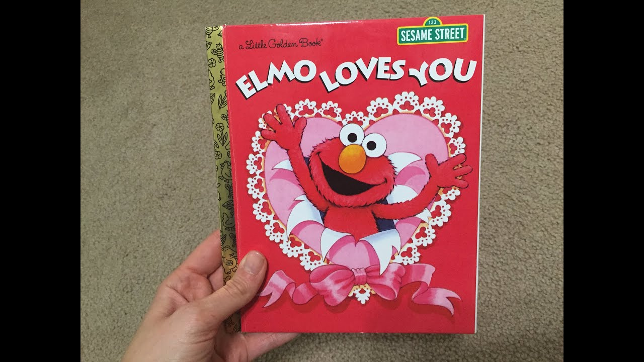elmo loves you valentines day book sesame street bedtime readers youtube - Valentines Day Book