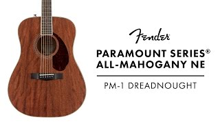 Introducing the Fender Paramount Series® All-Mahogany PM-1 Dreadnought NE | Fender