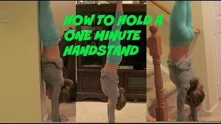 holding a one minute handstand bonus video
