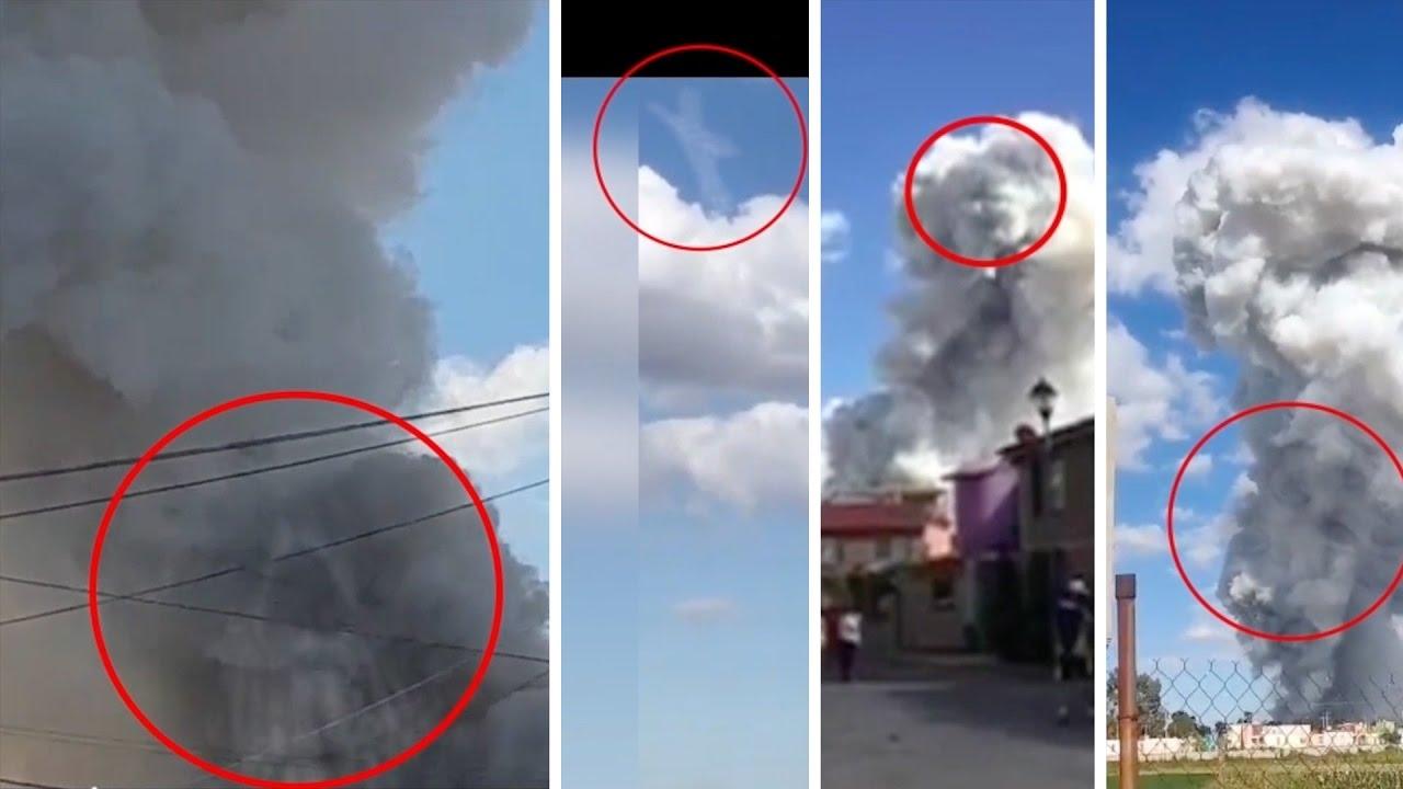 Explosión en Tultepec Mexico fábrica de cohetes Rostros Diabólicos. Meme oh