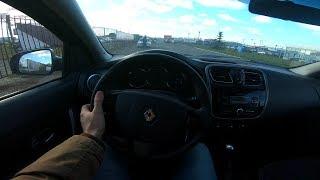 2014 Renault Logan 1.6l Pov Test Drive