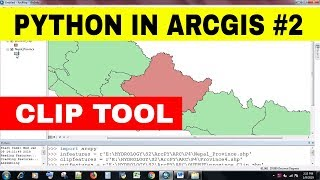 [PYTHON IN ARC GIS #2]ARCPY | CLIP IN ARC GIS USING PYTHON | GETTING STARTED WITH PYTHON IN ARC GIS