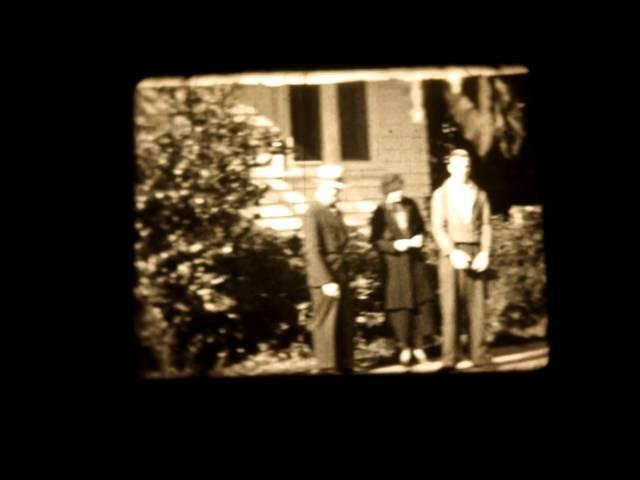 16mm Home Movie 1940 Parades Barns Dogs Farming Visalia