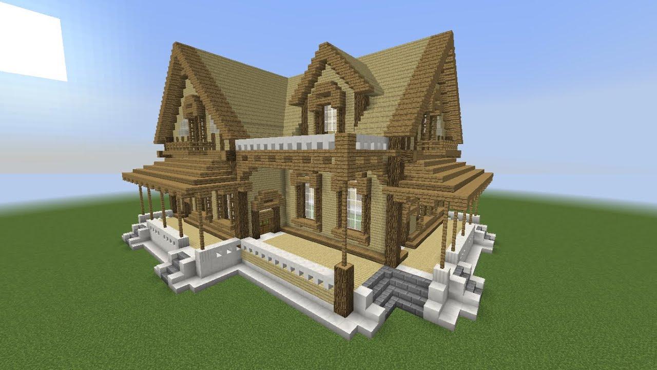 Minecraft como fazer um casarão rústico youtube