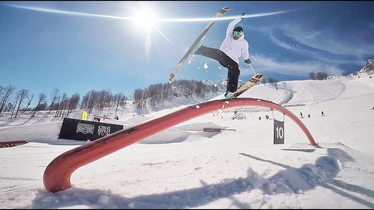 Фристайл на лыжах, трюки в парке Роза Хутор [Игорь Глинских, Riders School]