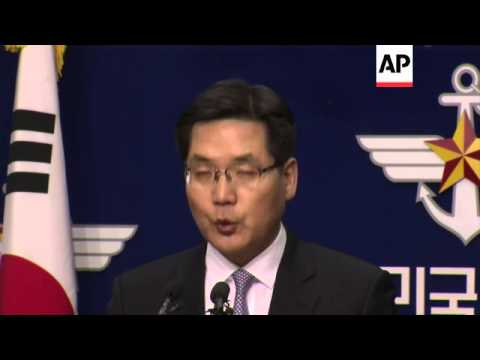 SKorean defence ministry briefing on nuclear test in NKorea; border at Imjin river