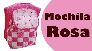 Mochila Rosa – Elisa Fumache – Patchwork Sem Segredos