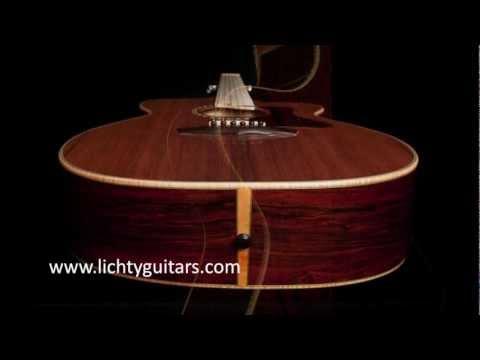 Cocobolo Custom Guitar, a handmade Lichty Guitar