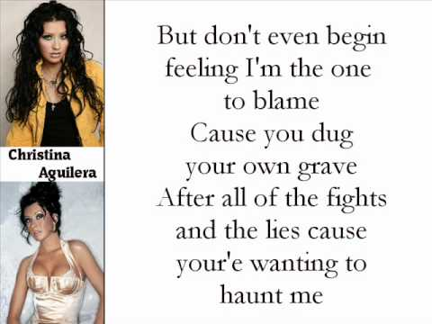 Christina Aguilera - Fighter (Lyrics On Screen)