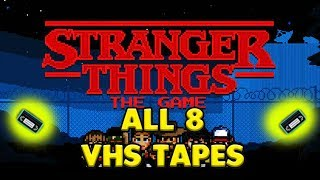 ALL 8 VHS LOCATIONS - STRANGER THINGS📼📼📼