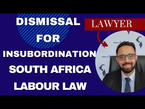 GROSS INSUBORDINATION AND MISCONDUCT LAW IN SOUTH AFRICA FOR CCMA & DISCIPLINARY HEARINGS