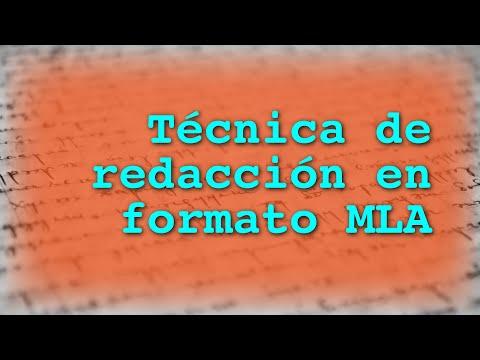 Técnica De Redacción Formato MLA