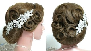 Wedding hairstyle for long hair tutorial. Perfect bridal updo