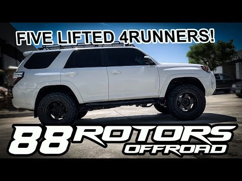 4th & 5th Gen Toyota 4Runners Lifted on 285/70/17