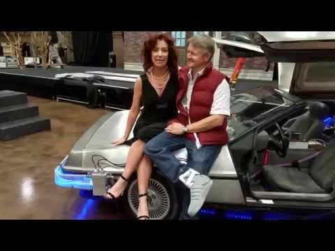 Delorean Time Machine and Claudia Wells