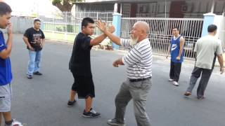 Grand Master Sang demonstrate HS Choy Lee Fut