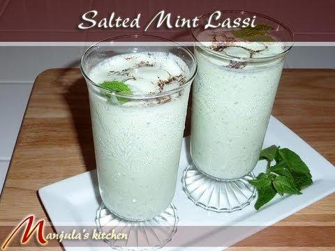 Salted Mint Lassi, Indian Yogurt Drink Recipe by Manjula