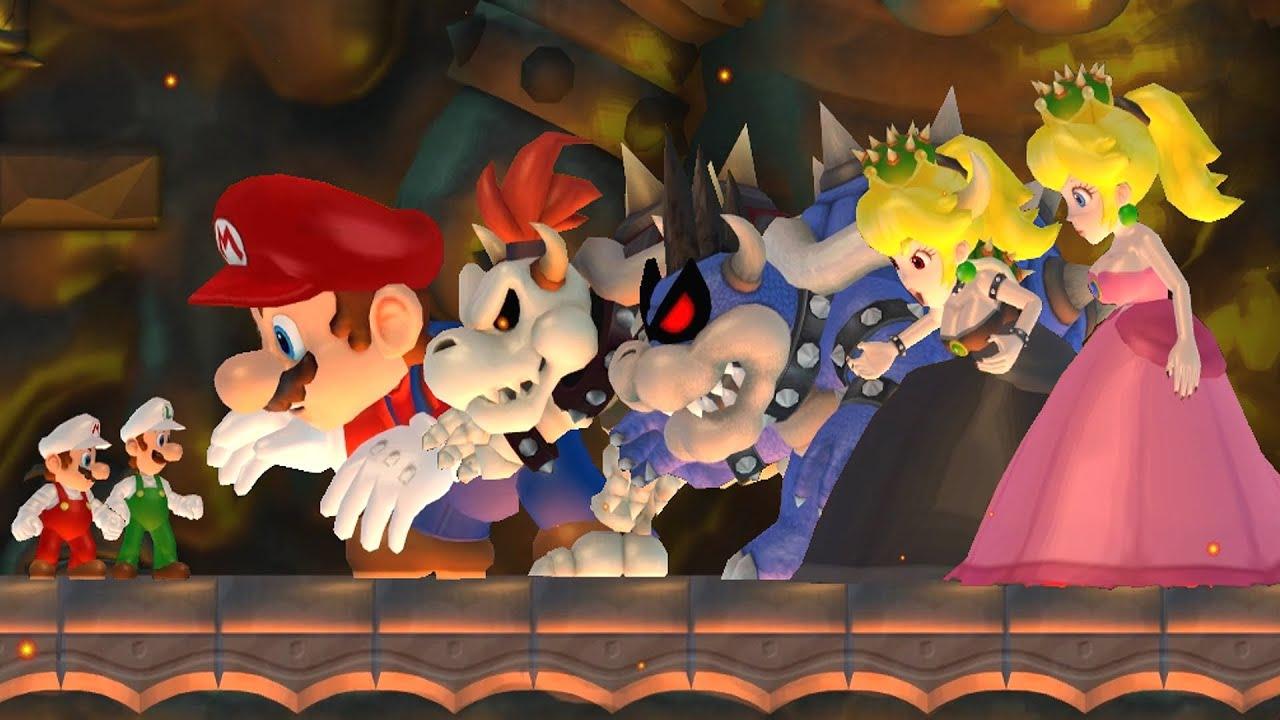 Download New Super Mario Bros Wii - Top 5 Final Boss Hacks