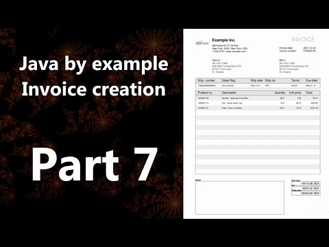 Invoice creation part 7 (Java by Example)