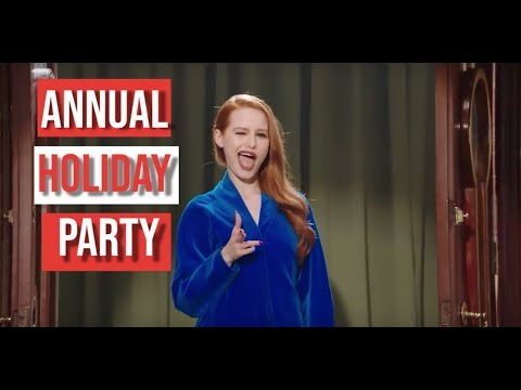 Behaving at an annual holiday party| Madelaine Petsch