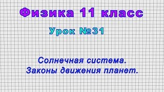 Физика 11 класс (Урок№31 - Солнечная система. Законы движения планет.)