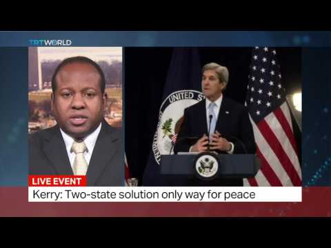 Comments on John Kerry's speech on Israeli-Palestinian peace deal