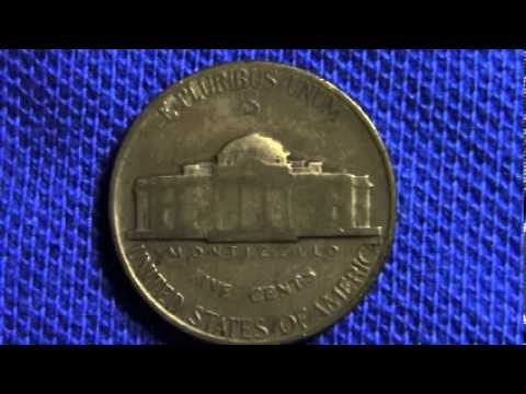 1945 War Nickel Silver S Mint Mark Old Coin Good