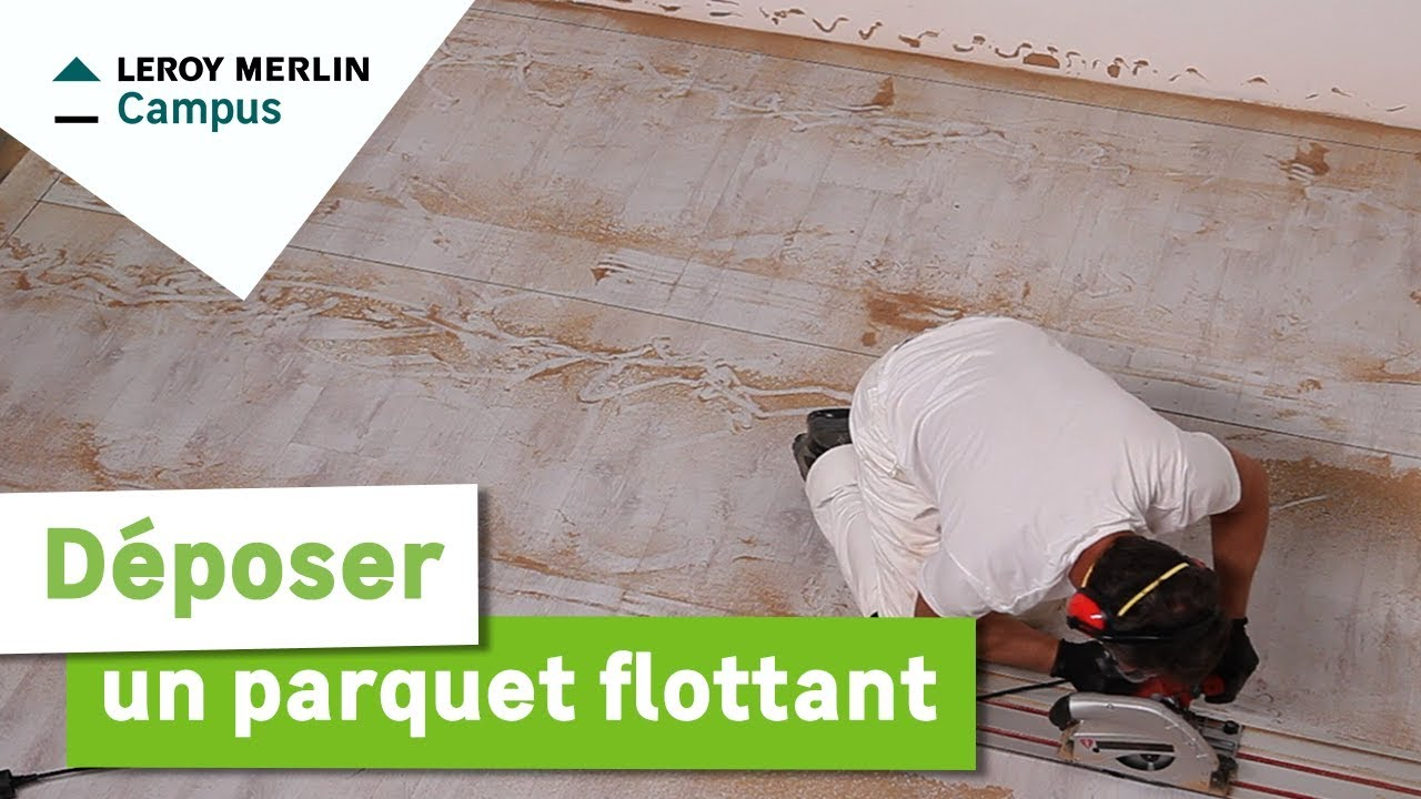 Comment d poser un parquet flottant leroy merlin youtube for Parquet noir leroy merlin