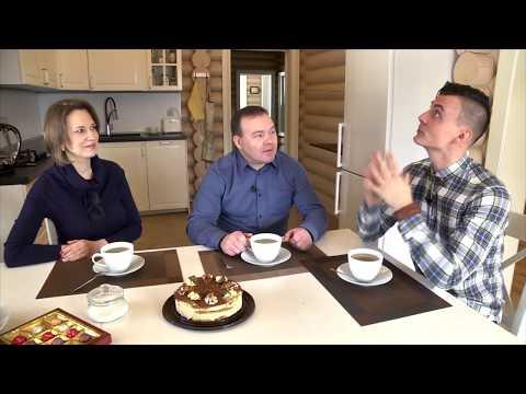 """Видеоотзыв обладателя дома из оцилиндрованного бревна, построенного компанией """"Вятский лес"""""""