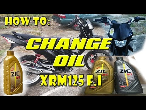 HOW TO: Change Oil Honda XRM 125 FI