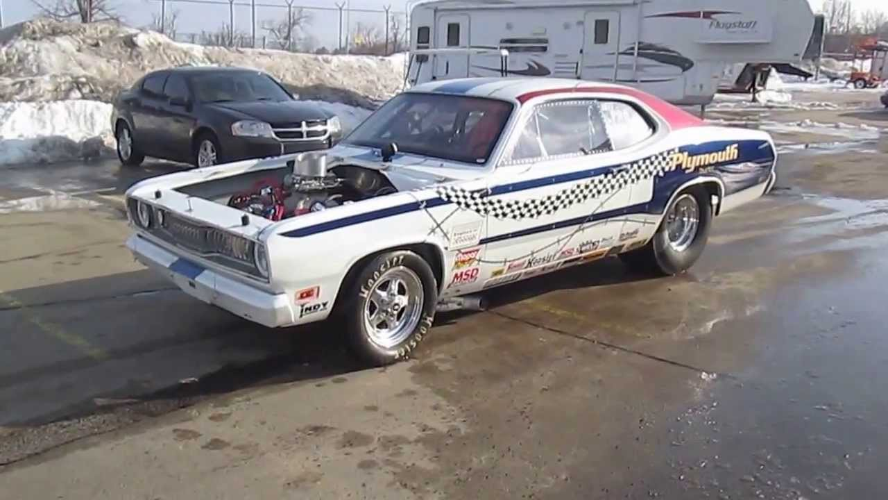 1971 plymouth duster drag race car youtube. Black Bedroom Furniture Sets. Home Design Ideas