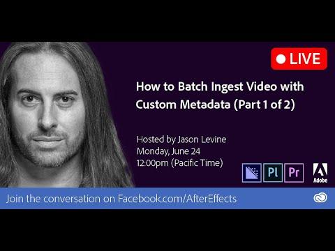How to Batch Ingest Video with Custom Metadata
