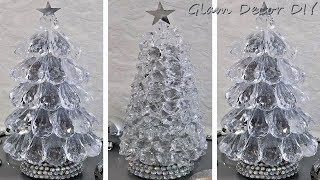 Dollar Tree DIY Glam Crystal Christmas Trees