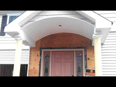 Portico Amp Front Porch Roof Vinyl Siding Installation Bergen County Nj Youtube