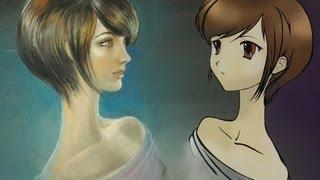 Реалистичный портрет в стиле Аниме :-)(Группа: https://vk.com/lady_ghost_draws Привет всем! Вот оно, мое видение реалистичного портрета в стиле Аниме))) Для того,ч..., 2013-01-22T06:30:16.000Z)