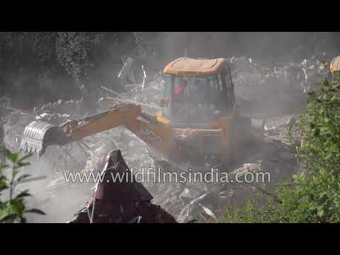 Landour demolitions: JCB bulldozers destroy Holly Mount, Mussoorie