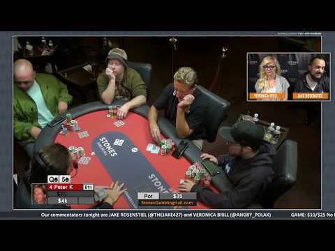 $10/$25 No Limit Hold'em - Wednesday, October 4, 2017
