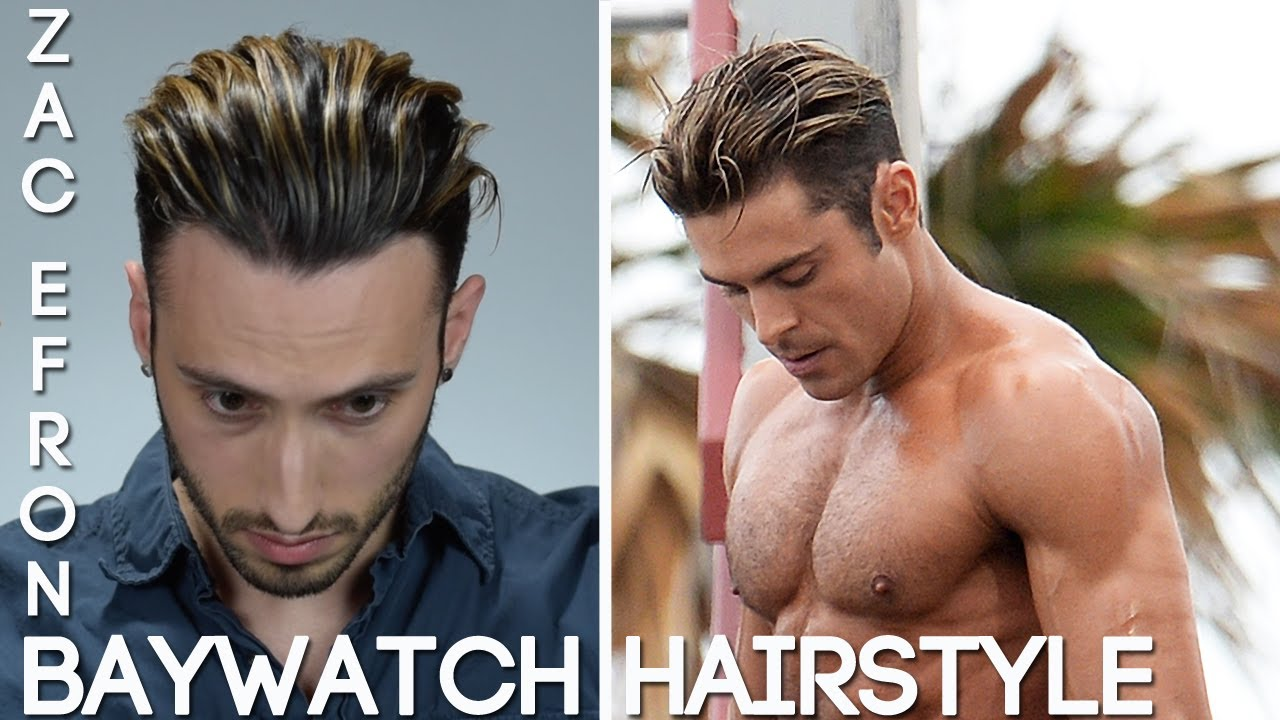 Zac Efron Baywatch Hair Tutorial Mens Summer 2017 Wavy Hairstyle