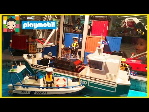Playmobil Deutsch Mega Show! Train Construction Cargo and Indian Set